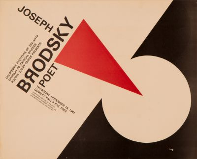 CalArts poster: Joseph Brodsky by Rodney Samuelson