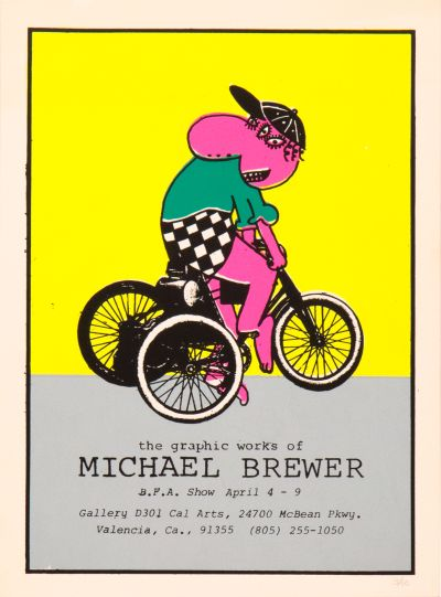 CalArts poster: The Graphic Works of Michael Brewer by Michael Brewer