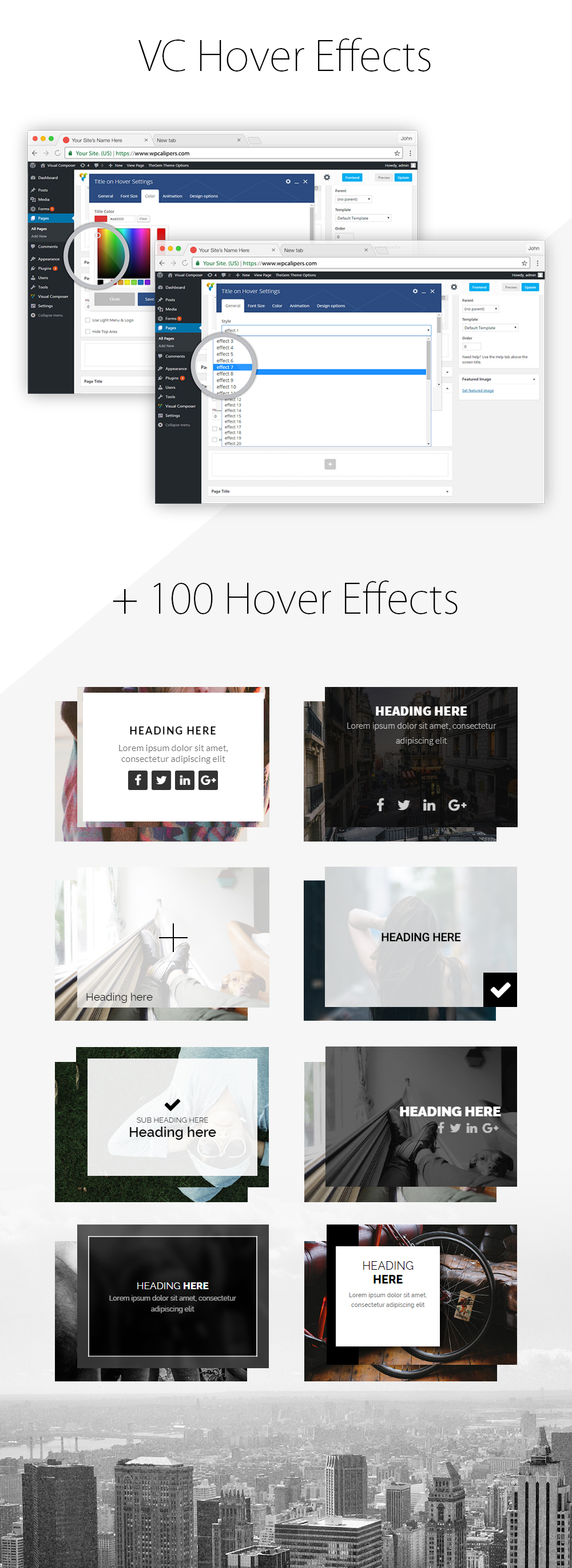 Image Hover Effect Addon For Visual Composer - 1