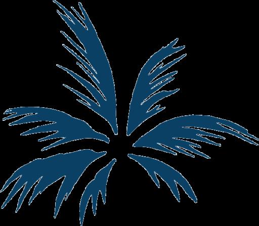 Caliva Palm Icon Blue