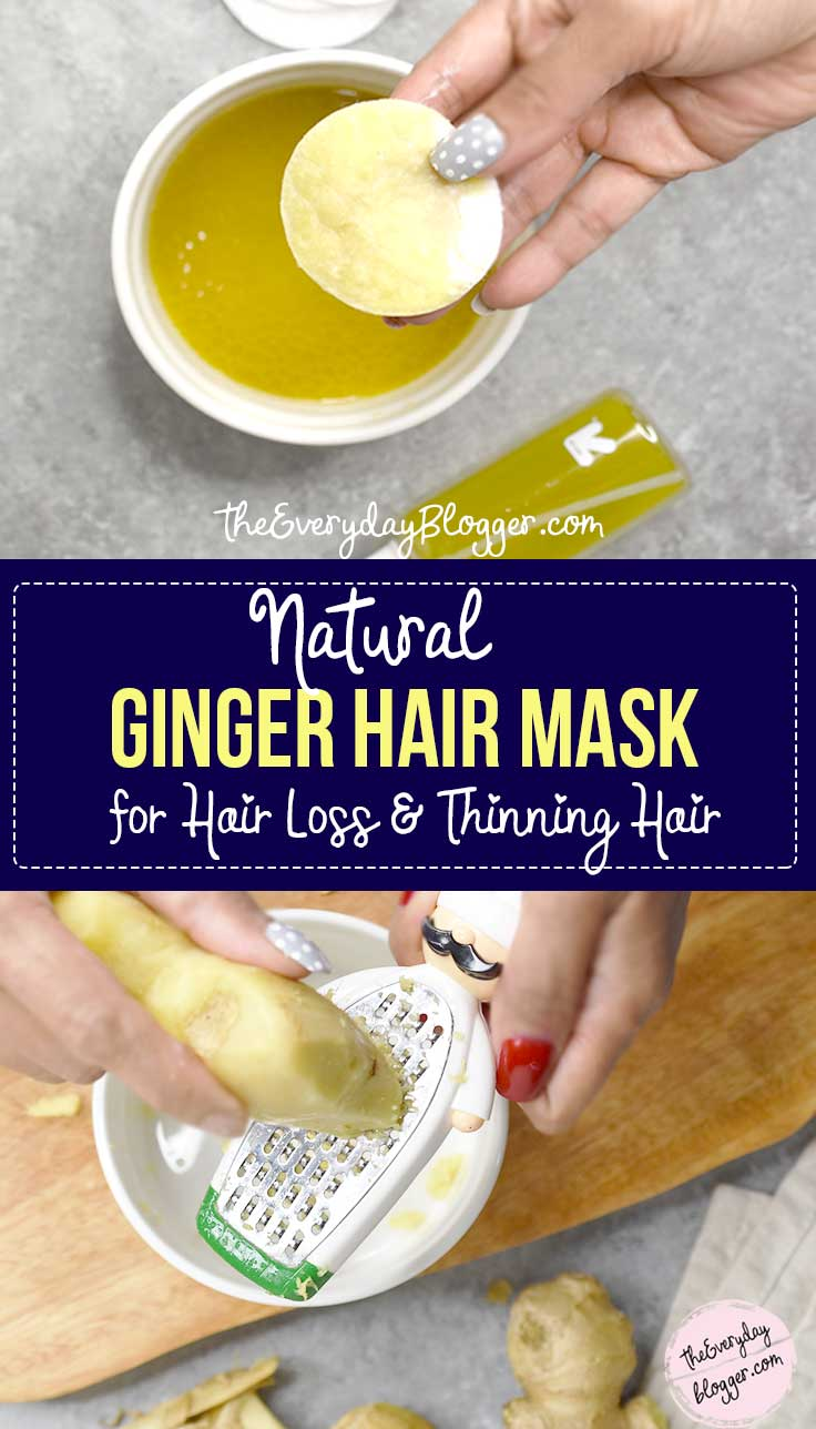 Ginger Oil - Stimulates hair growth and if you have a scalp or dandruff problem, you should try this hair mask as it really cleanses your scalp.