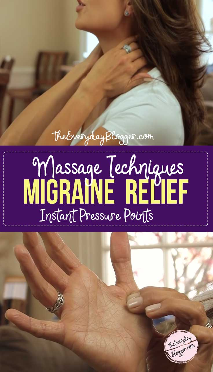 Learn the right pressure points to get instant relief for migraine, headaches, tension, stress, and a throbbing brain.