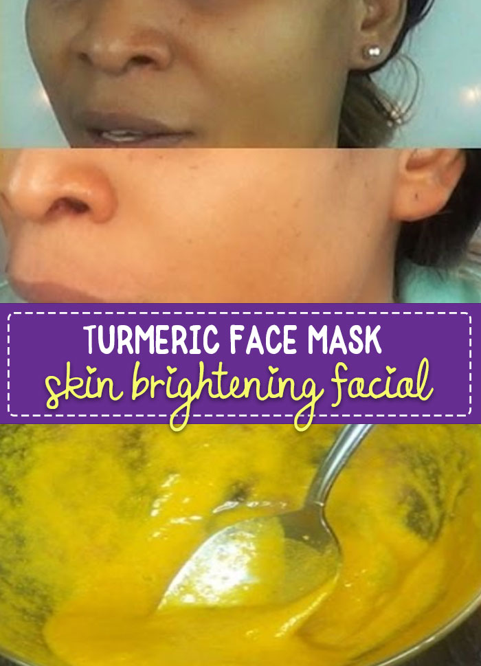 Turmeric Face Mask to Lighten Skin - brighten your skin in 15 minutes, great for removing scars and blemishes. Super easy to make and you can have bright, glowing skin in minutes.