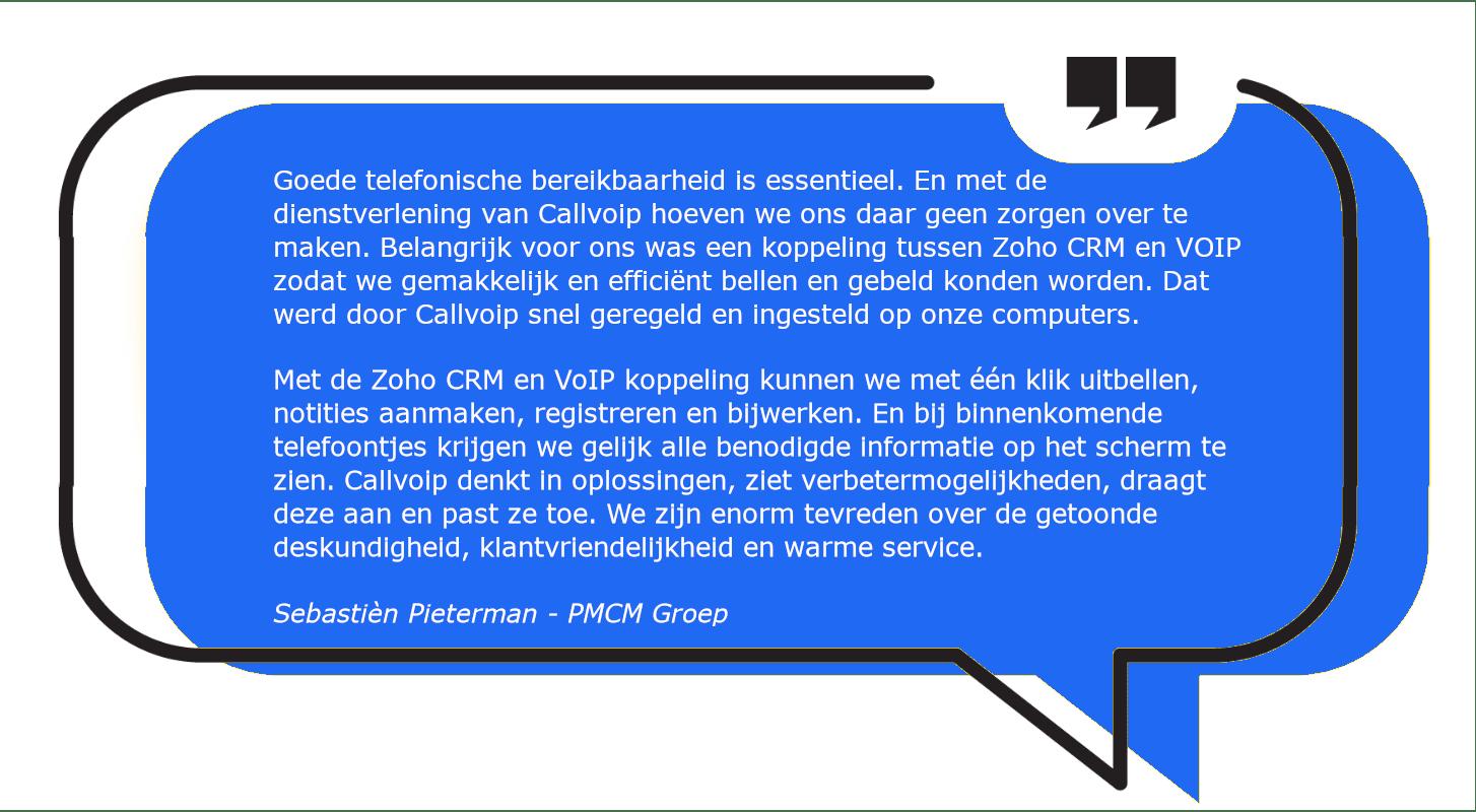 Integratie telefonie en Zoho: maak kennis met onze slimme pop-up