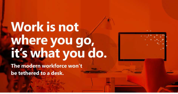 The Anywhere Workplace, today and tomorrow, it means mobile productivity.