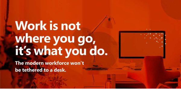 Anywhere Workplace, today and tomorrow, it means mobile productivity.
