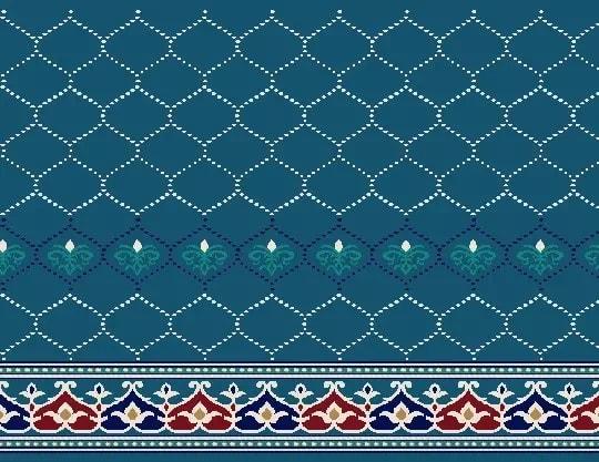 2023 Akrilik Cami Halısı Deseni Mavi