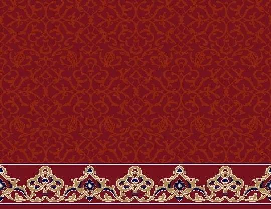 2054 Akrilik Cami Halısı Deseni Bordo