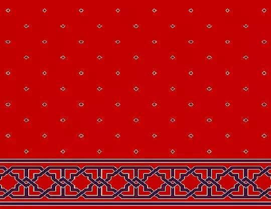 1033 Yün Cami Halısı Deseni