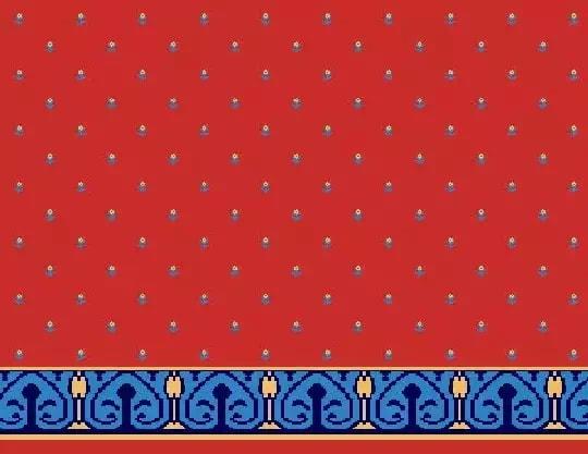 1029 Yün Cami Halısı Deseni
