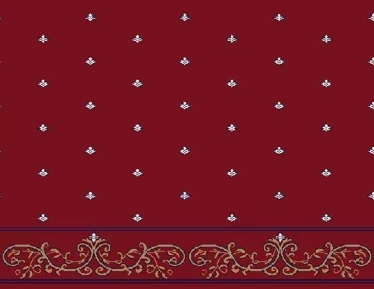 2061 Akrilik Cami Halısı Deseni Bordo