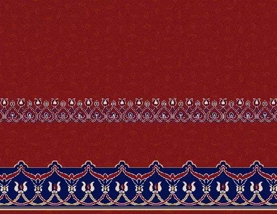 2057 Akrilik Cami Halısı Deseni Bordo