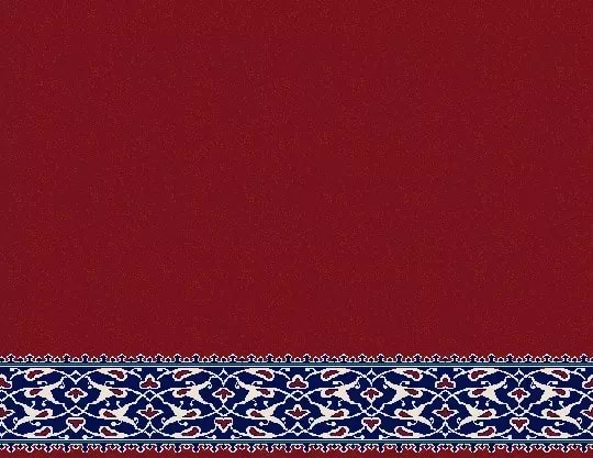 2055 Akrilik Cami Halısı Deseni Bordo