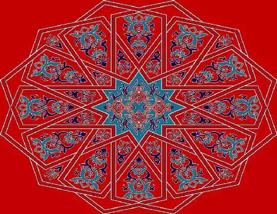 3004 Yün Cami Halısı Göbek Deseni