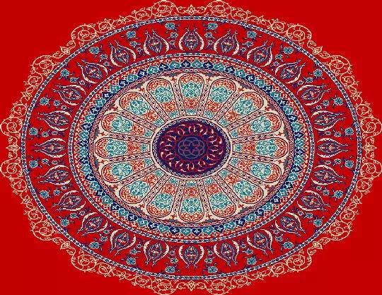 3003 Yün Cami Halısı Göbek Deseni