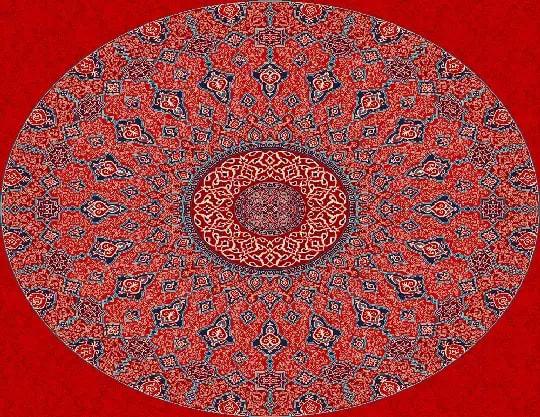 3001 Yün Cami Halısı Göbek Deseni