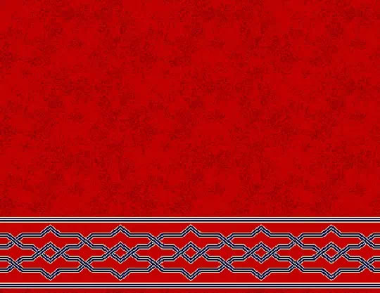 1034 Yün Cami Halısı Deseni