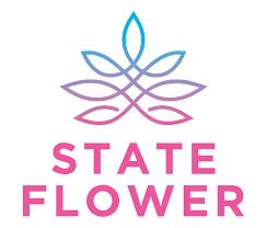 State Flower Logo Cannabis Weed Brand