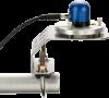 CS320 monté sur son support avec niveau à bulle, fixé à une platine et un bras de montage (vendus séparément)