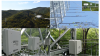 Fig. 2. The CPEC 310 (a and c) and AP200 (b and d) installed in a tower facilitating the studies on forest ecology and management over the watershed of Qingyuan Forest CERN (China Ecology Research Network, Chinese Academy of Sciences)
