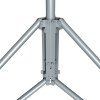 Mast attachment to a tripod base