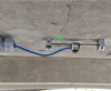 Vibrating-wire strain gauge installation to a girder's bottom flange