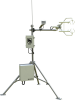 Example open-path eddy-covariance system based on an EC150; large enclosure holds a datalogger and power supply