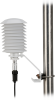 41003-5 vertically mounted with plug and 083E-L Temperature and Relative Humidity Sensor (each sold separately)