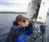 Sally MacIntyre of the University of California investigating the linkages between hydrodynamics and ecosystem function