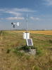 Automated weather stations in Southern Alberta provide real-time wind speed and direction data to local crop dusting pilots