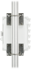 CRVW3 enclosure, back view, mounted to a pole using a universal mounting bracket (sold separately)