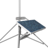 The 31107 extended mounting kit attached to the SP90 solar panel (sold separately)