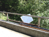 Solar panel had to be mounted below the rail on the bridge.