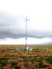 A mesonet station at Eufaula, Oklahoma, is one of 121 automated weather stations that continuously measure weather conditions.