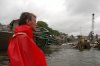Minneapolis Mayor R. T. Rybak surveys the collapsed St. Anthony Falls Bridge. (Photo courtesy of Mike Wills)