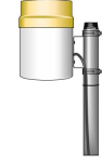 te525-qd rain gage with 6 in. orifice for raws-f station