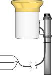 te525mm-l metric rain gauge with 9.6 in. orifice
