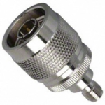 18686 coaxial adapter, type n male to rpsma female
