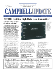 campbell update 1st quarter 2001