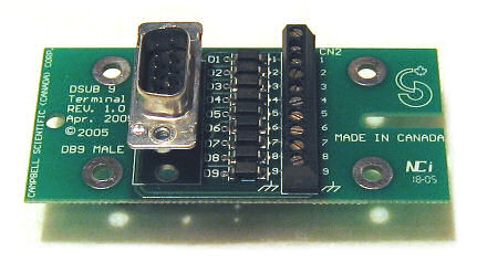 DB9M-TERM: Adapter - RS232 DB9M to Screw Terminal Block