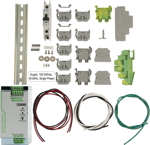 28371 24 Vdc 10 A Power Supply Kit (battery not included)