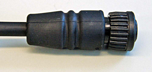 19520 Circular Plastic Miniconex Connector, Type Male 6-Pin Solder