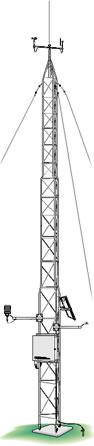 UT30 Tour en aluminium pour station météorologique (10 m)