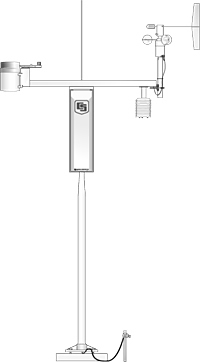 LI200X-ETM LI-COR Pyranometer, Fixed Calibration, w/Mounting, for ET Station, 40 inch cable