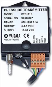 CS105MD Vaisala PTB101B Barometer (600 - 1060 Hpa), for MetData1, 10 inch cable