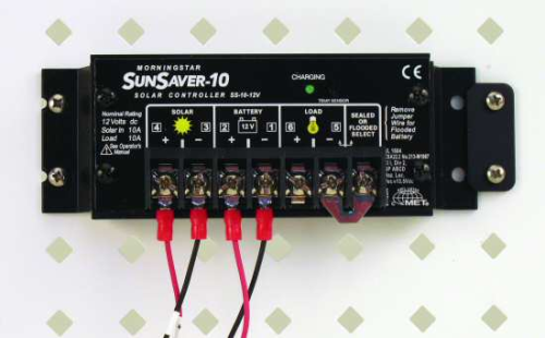 18529 10 A 12 V Regulator with 15 ft Battery Cable