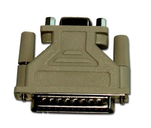 15751 RS-232 Data Cable Adapter, DB9 Female to DB25 Male