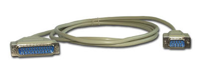 14413 RS-232 Cable, DB9 Male to DB25 Male