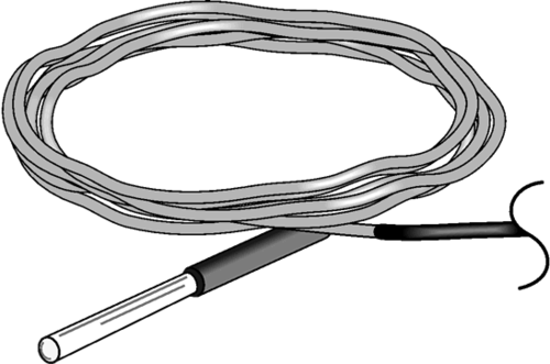 107-LC Temperature Probe for ET or MetData