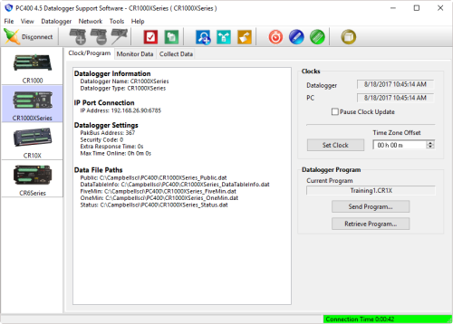PC400 Datenlogger Support Software